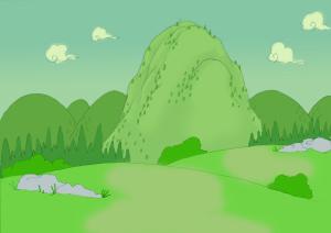 サル山全景